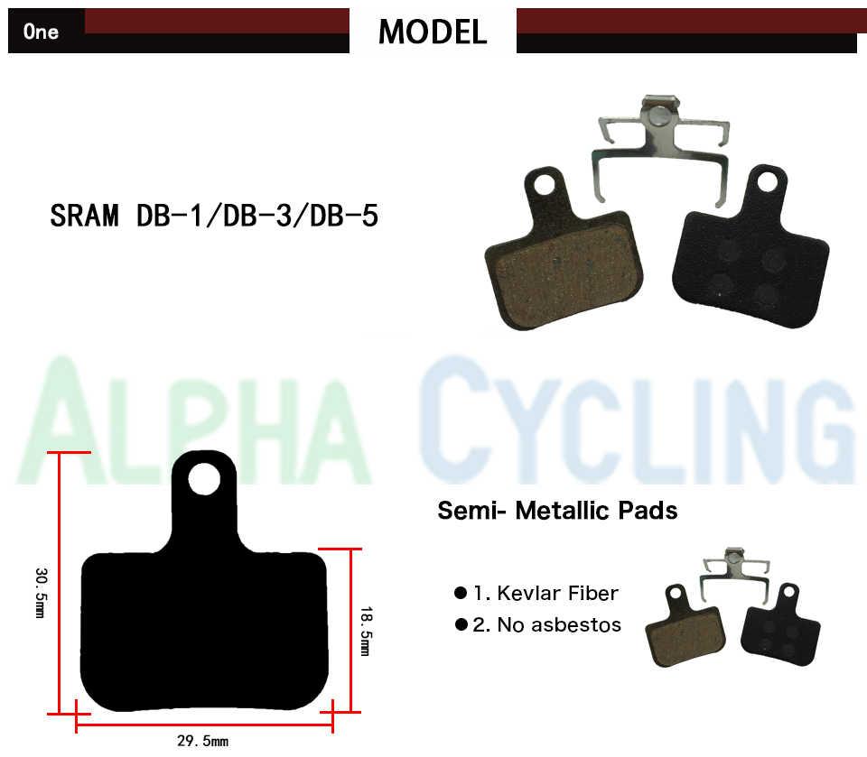 Pastilhas de freio de bicicleta para sram & avid db1 db3 db5 nível freio a disco hidráulico, esporte ex classe, 4 pares