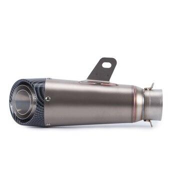 Silenciador de escape para motocicleta tubo Exhuanst acero inoxidable de fibra de carbono 51mm/61mm para Suzuki Bandit 650S DL1000/V-STROM