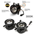 For Accord For Odyssey For Fit For City For Peugeot For Citroen 8 CREE LED Front LED Fog Light United Kit 3000K With LED Lamp