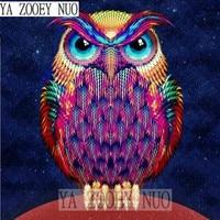 Full Diamond Embroidery Animal Owl 5D Diamond Painting Cross Stitch 3D Diamond Mosaic Needlework Crafts Christmas Gift KL900