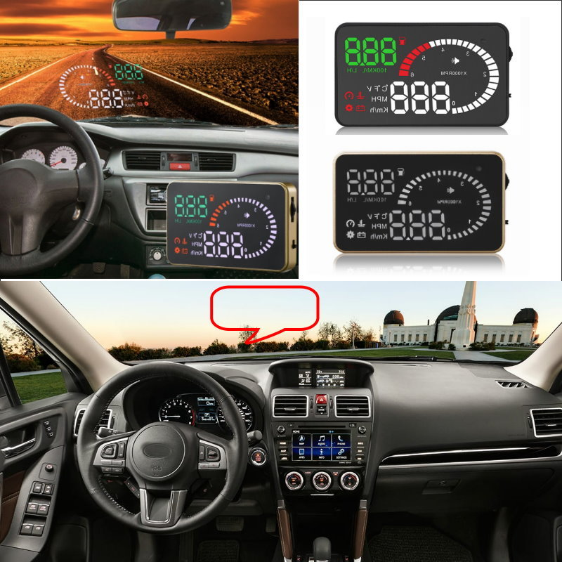 Liislee Car HUD Head Up Display For Subaru Forester XU Impreza Legacy Outback - Safe Screen Projector / OBD II Connector liislee car hud head up display for subaru forester xu impreza legacy outback safe screen projector obd ii connector