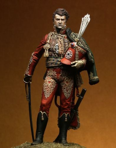 1/18 90mm Napoleonic General Fournier-Sarloveze 90mm    Toy Resin Model Miniature Resin Figure Unassembly Unpainted