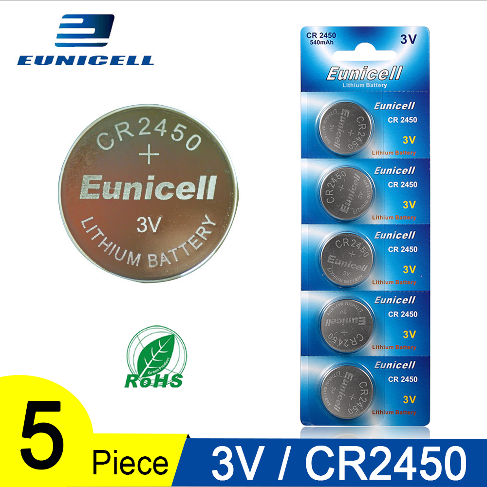 5PCS Button Battery <font><b>3V</b></font> CR2450 <font><b>CR</b></font> <font><b>2450</b></font> ECR2450 KCR2450 5029LC LM2450 DL2450 CR2450N BR2450 Alkaline Button Cell Coin Batteries image