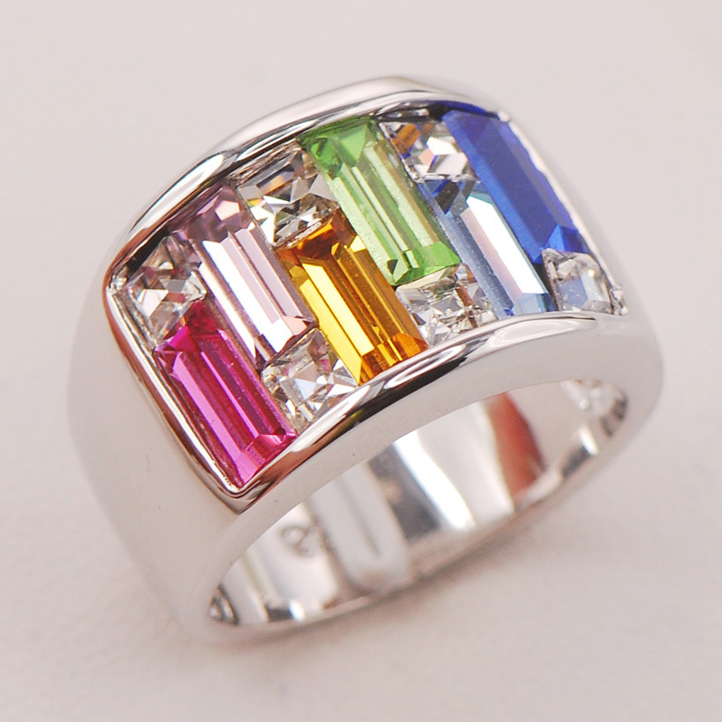 Pink Crystal Zircon Morganite tLight Blue Crystal Zircon 925 Sterling Silver Ring F804 Size 6 to 10 morganite garnet purple green crystal zircon multi color follower 925 sterling silver ring size 6 12