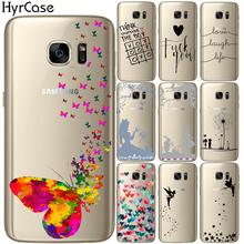 Motyl dzwoneczek miłość śmiech życie miękkie TPU silikonowe etui na telefon do Samsung Galaxy S5 Mini S6 S7 krawędzi S8 S9 S10 Plus E tanie tanio Aneks Skrzynki Anti-knock Odporna na brud Galaxy s6 Galaxy s6 krawędzi Galaxy S7 Galaxy S7 Krawędzi Galaxy S8 Galaxy S8 Plus