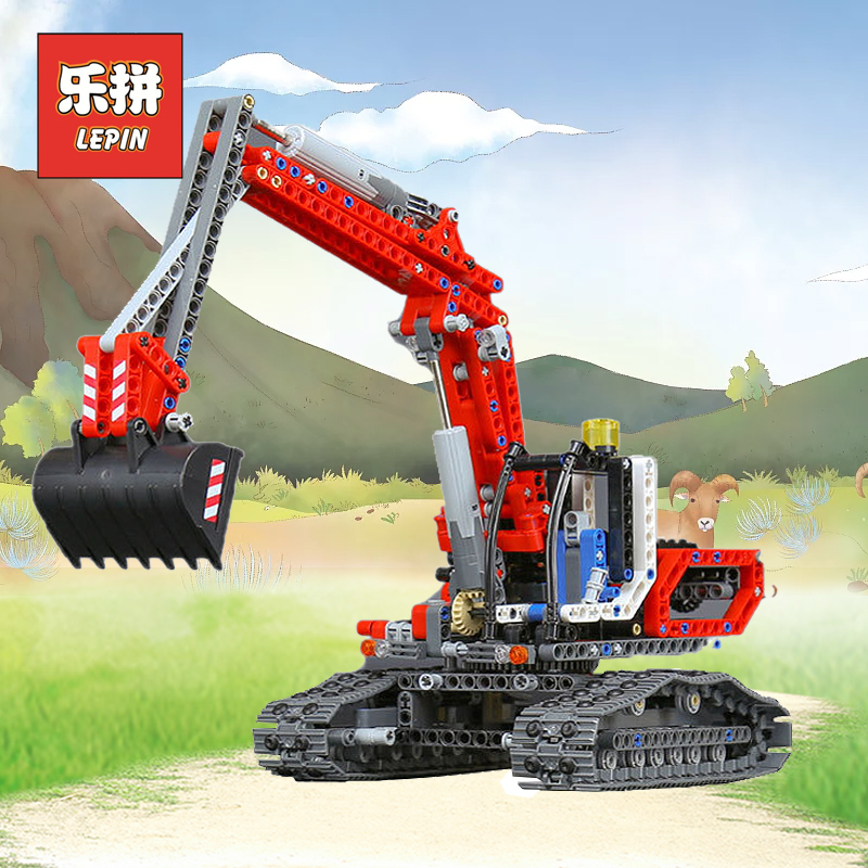 Lepin 20025 Genuine Technic Series the Red Engineering Excavator Set Building Blocks Bricks Educational Toys Boys Gift 8294 lepin 21010 914pcs technic super racing car series the red truck car styling set educational building blocks bricks toys 75913