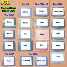 JCD 1 adet plastik cam ekran Lens kapağı Gameboy renk Advance cep GB GBA SP GBC GBL GBP Lens koruyucu W/yapıştırıcı