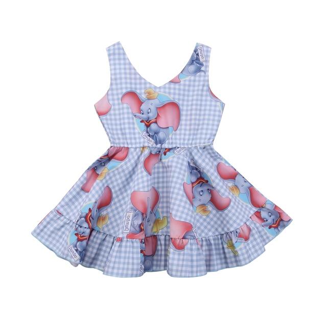 Kids Baby Girls Clothing Dresses Princess Animal Dumbo Dress