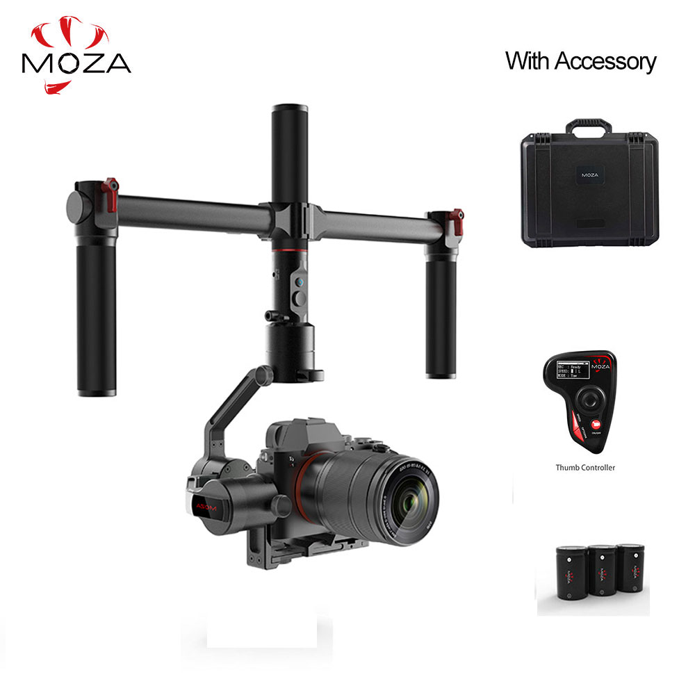 Stabilisateur de cardan portable MOZA AirCross 3 axes multi-contro pour caméra sans miroir jusqu'à 3.9lb/1.8 kg pour Sony A7SII, Pana GH5