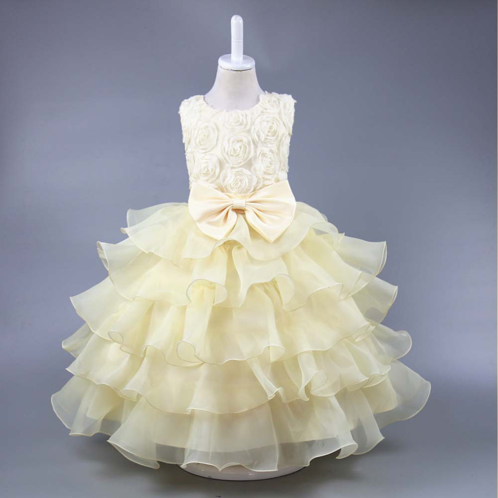Weixu Baby Girl Formal Layered Dress Wedding Gowns White Tulle ...