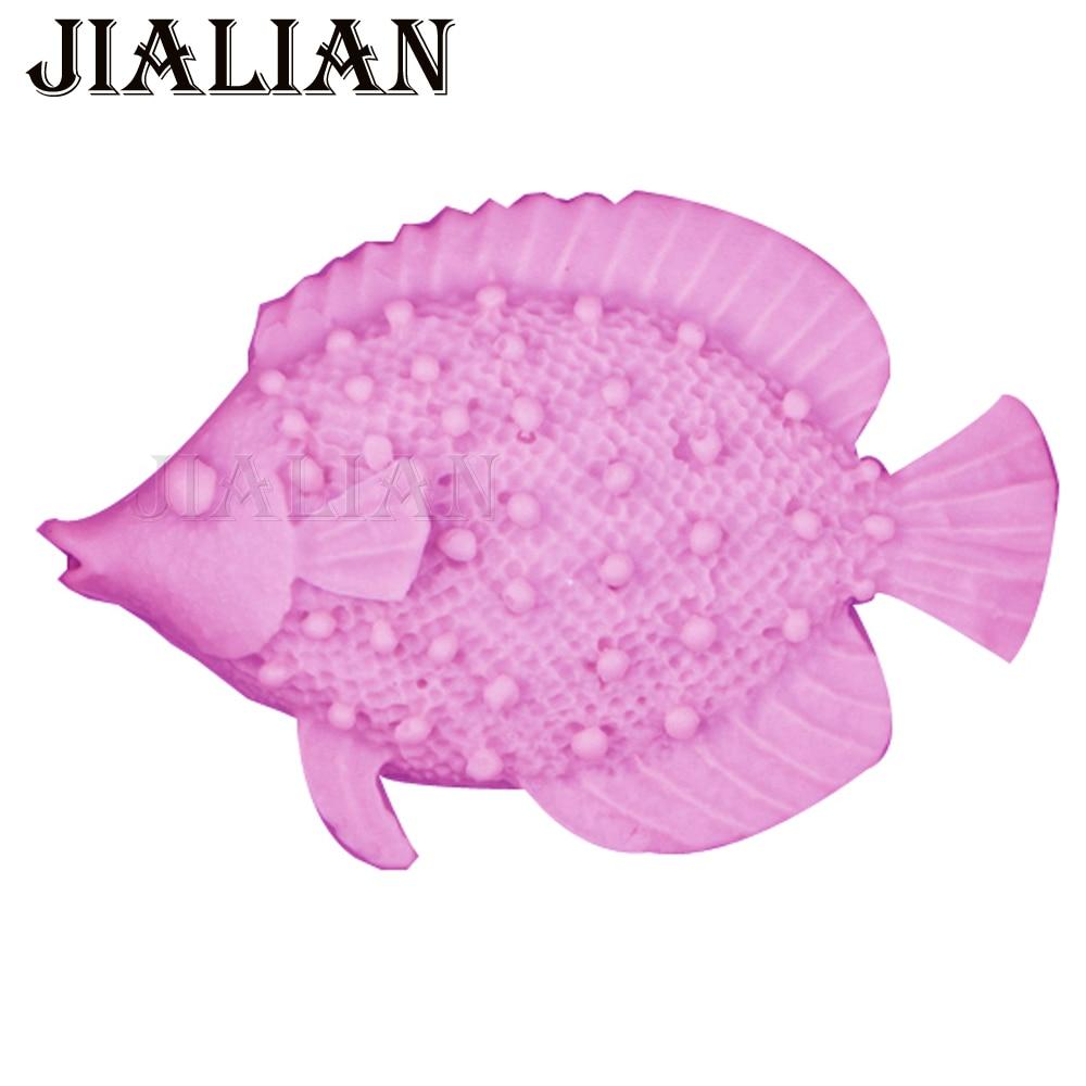 HOT Selger Marint liv Fisk fondant 3D silikon dekorasjon mold DIY Cake Decorating Tools Baking mold T0521