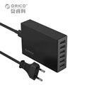 ORICO CSL-6U 5V2.4A EU/US Plug Desktop Charger Adapter 10A50W 6 USB Port Travel Charger - Black