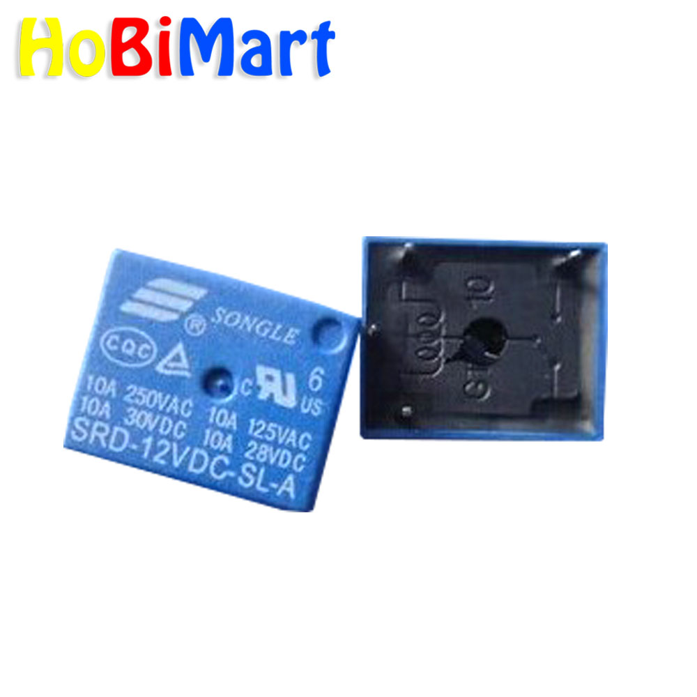 HoBiMart 25pcs /lot SRD-12VDC-SL-C PCB Type Power Relay 12V DC SONGLE  FREE SHIPPING #J199-1