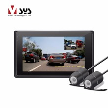 2017 VSYS más nuevo X2 H.264 2CH real 1080 P dual lente IP68 vista frontal y trasera de la motocicleta de la cámara DVR cuadro negro con el envío gratis