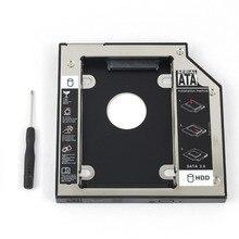 WZSM Новый 2nd SATA HDD SSD карман для жесткого диска 12,7 мм для hp павильон DV3 DV4 DV5 DV5Z DV5T DV6 DV7 DV8 HDX18 HDX16 TS-LB23L