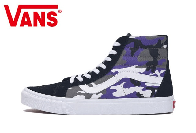 394573bb2f6e4 Vans Pop Camo Old Skool Classic Camouflage personality graffiti Sneakers  shoes, men/women shoes Weight lifting shoes size 36-44