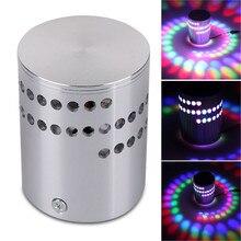 Красочный 360 градусов RGB настенный светильник с отверстиями по спирали KTV Поверхностная установка светодиодный светильник ing пульт дистанционного управления Прямая поставка