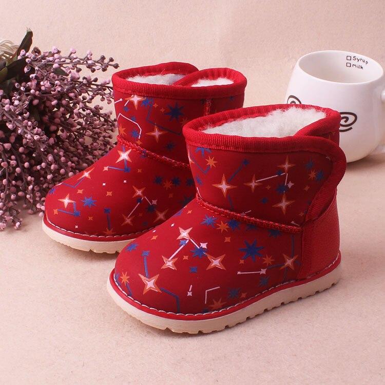 Детская Снегоступы зимняя обувь детские для маленьких мальчиков/ботинки для девочек плюс бархат утолщение Обувь для девочекs Водонепрониц...
