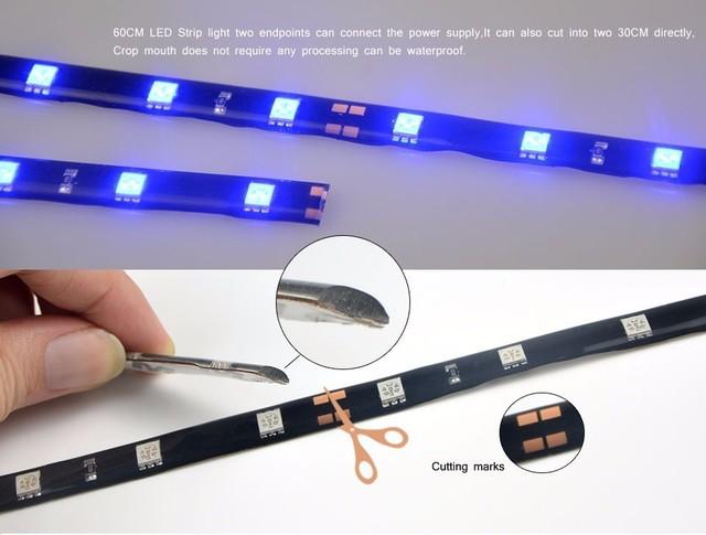30cm 7 Colors Led Strip 18 Led Daytime Running Lights Dc