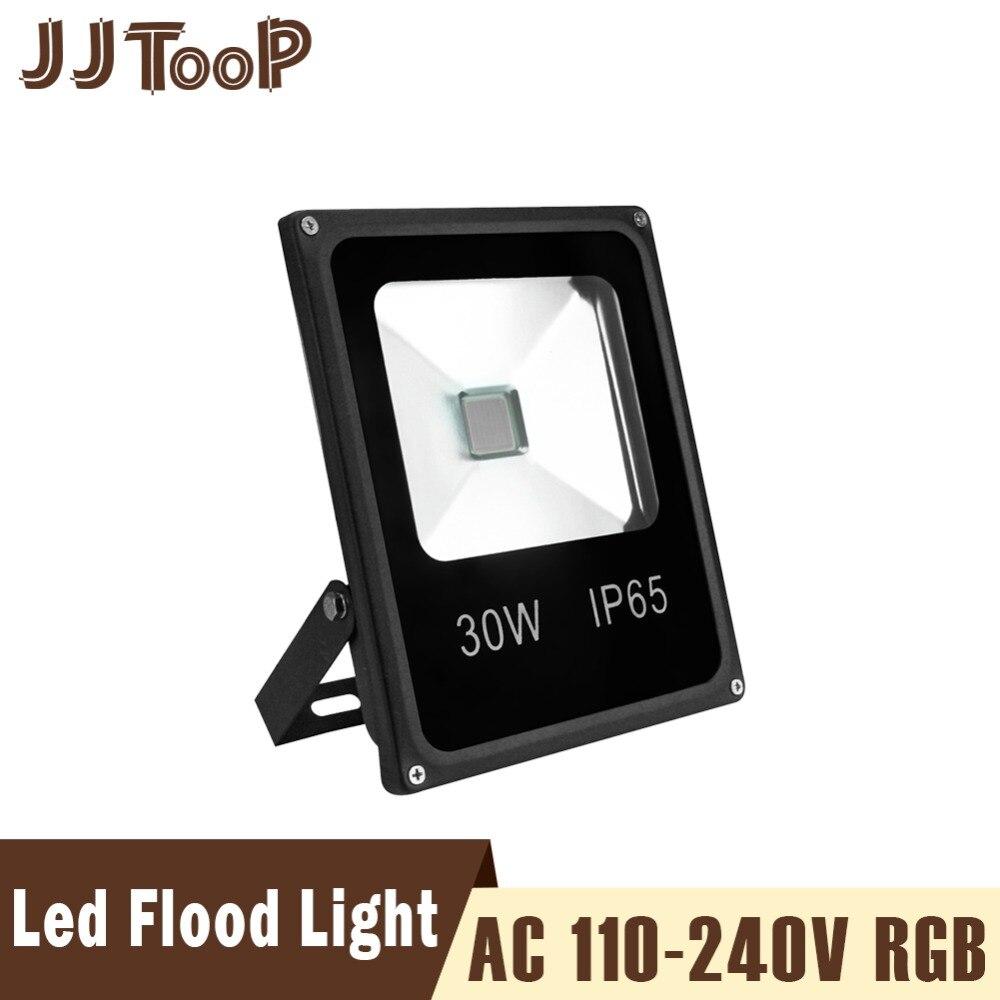 Floodlights Rgb Led Flood Light 10w 20w 30w 50w 100w Waterproof Ip66 Reflector With Remote 110-240v Outdoor Gargen Led Spot Floodlight