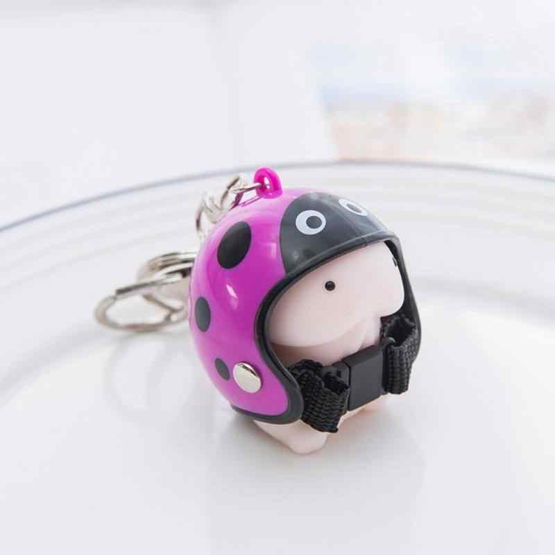 Автомобили брелок мультяшный животных с стиль шлема Squeeze Toy мягкие десны мяч захватил кукла машина висячие украшения Новый