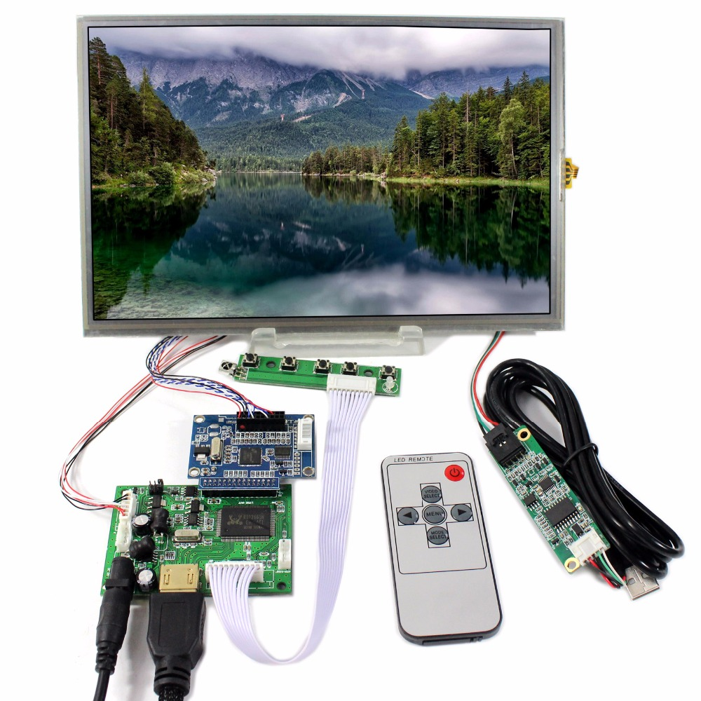 HDMI LCD Controller Board With 10.1 B101UAN01.A IPS 1920x1200 Touch Screen hdmi vga 2av lcd controller board with 7inch n070icg ld1 39pin reversal1280x800 ips touch lcd