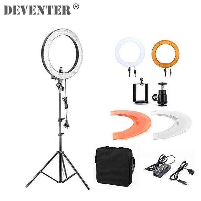 Photographic studio ring light continuous lighting 60W 5500K Live video Light Lighting Digital Unlimited adjustment AC 80V-240V
