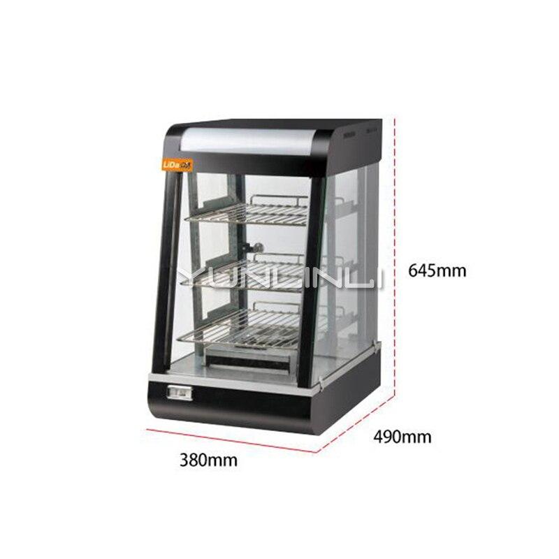 Commerciële Voedsel Verwarming Kast Voedsel Thermaltank Elektrische Thermische Container Gekookte voedsel Warmte Behoud Showcase LD 604 - 2