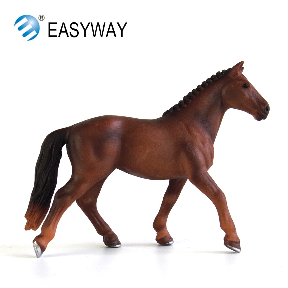 EASYWAY Horse Toy Figure Animal Model Figurines Kids Toy Gift Plastic Horses Toys for Children Educational Farm Animals Horses mr froger bengal white tiger model toy wild animals toys set zoo modeling plastic solid classic toy children animal models cute