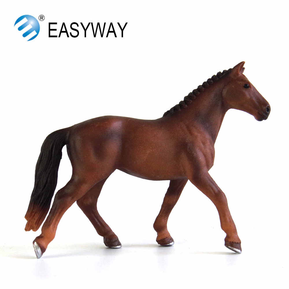 EASYWAY Horse Toy Figure Animal Model Figurines Kids Toy Gift Plastic  Horses Toys for Children Educational Farm Animals Horses
