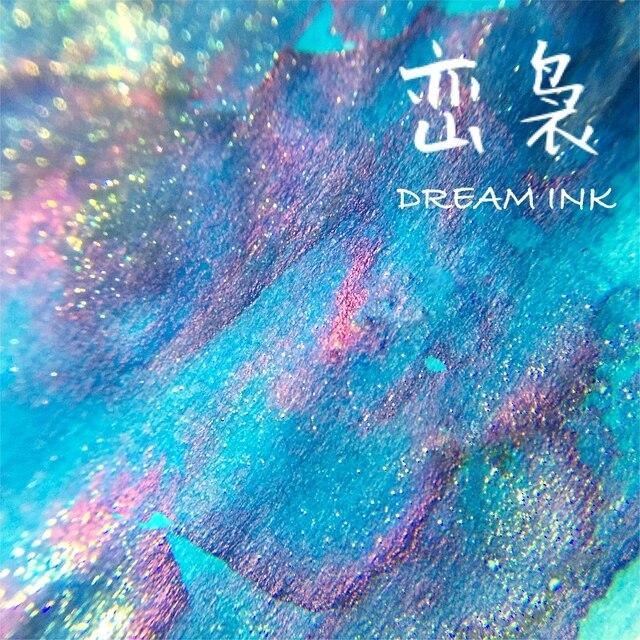 Rüya mürekkep, şişe 20ml, renkli mürekkep altın tozu, divit kalem mürekkep, dolma kalem mürekkep