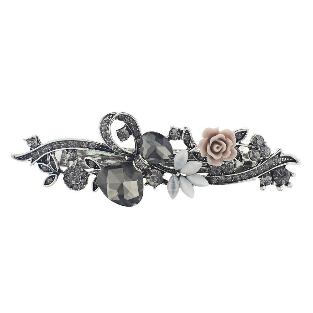 Dalaful Opals Resin Bunga Jepit Rambut Jepit Rambut Ikatan Simpul - Perhiasan fashion - Foto 3