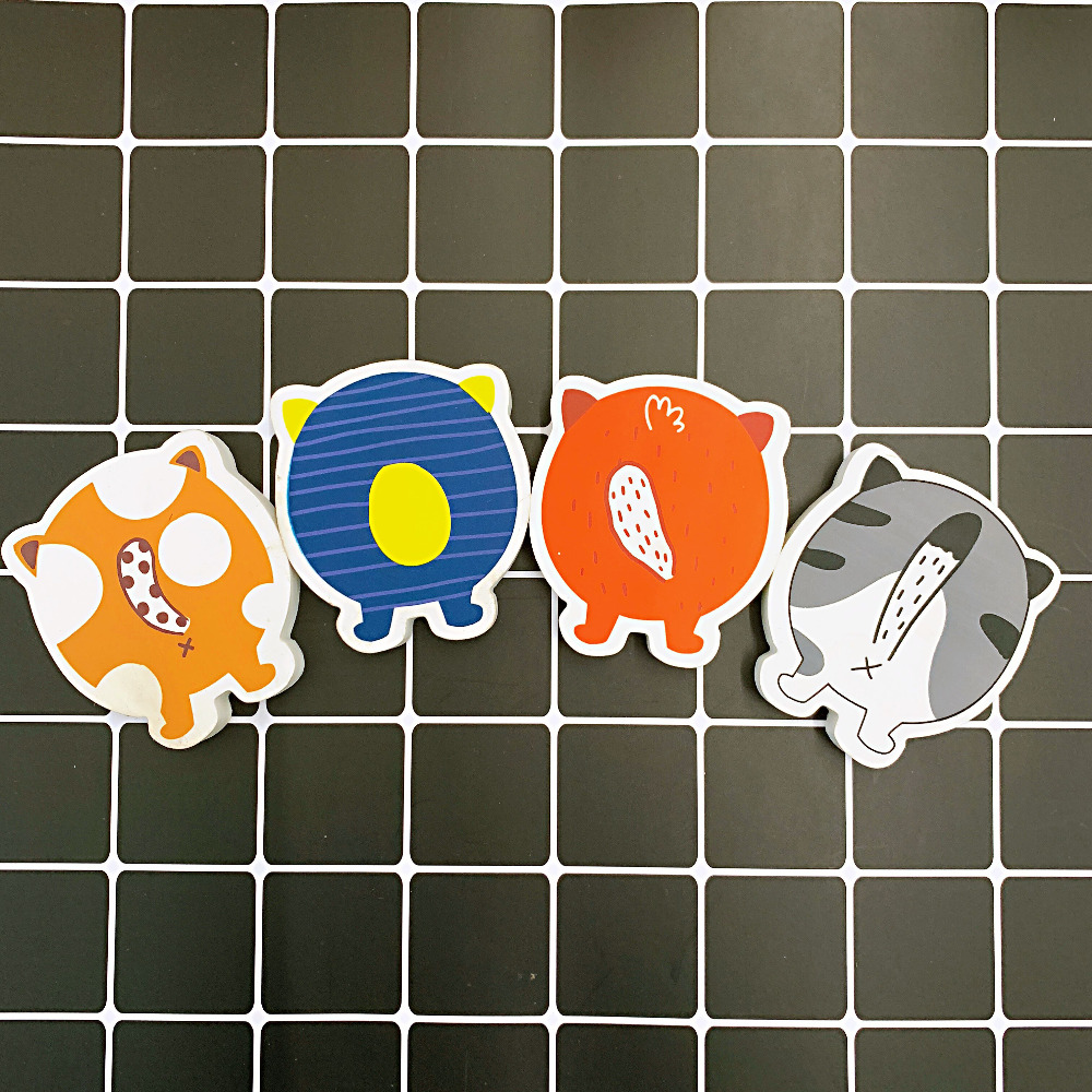2pcs /Pack Kawaii Animals' Back Rubber Eraser School Office Supply Drawing Writing Correction Stationery Student Gift