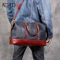 AETOO простая голова воловья короткая дорожная сумка мужская ручная работа винтажная Кожаная компактная сумка для поездки