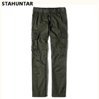 Summer Male Trousers Cotton Loose Army Green Military Cargo Men Pants Pockets Casual Black Khaki Tactical
