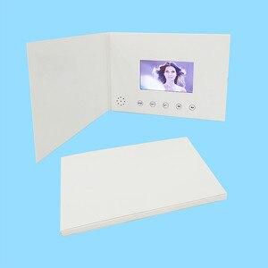 Image 4 - 4.3 cala nowe broszury wideo karty do prezentacji cyfrowy odtwarzacz reklamowy 4.3 calowy ekran wideo kartka z życzeniami 256m na sprzedaż
