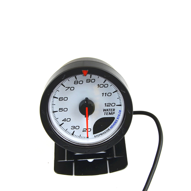 2.5 60MM Water Temp Temperature Gauge Meter White Face With Logo