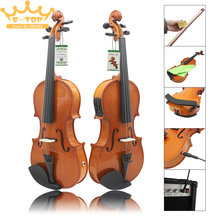Log Material Electroacoustical 4 / 4 Violin Cleaning Cloth / String / Shoulder Support / Roisn / Bow / Case Bag / Connect Line