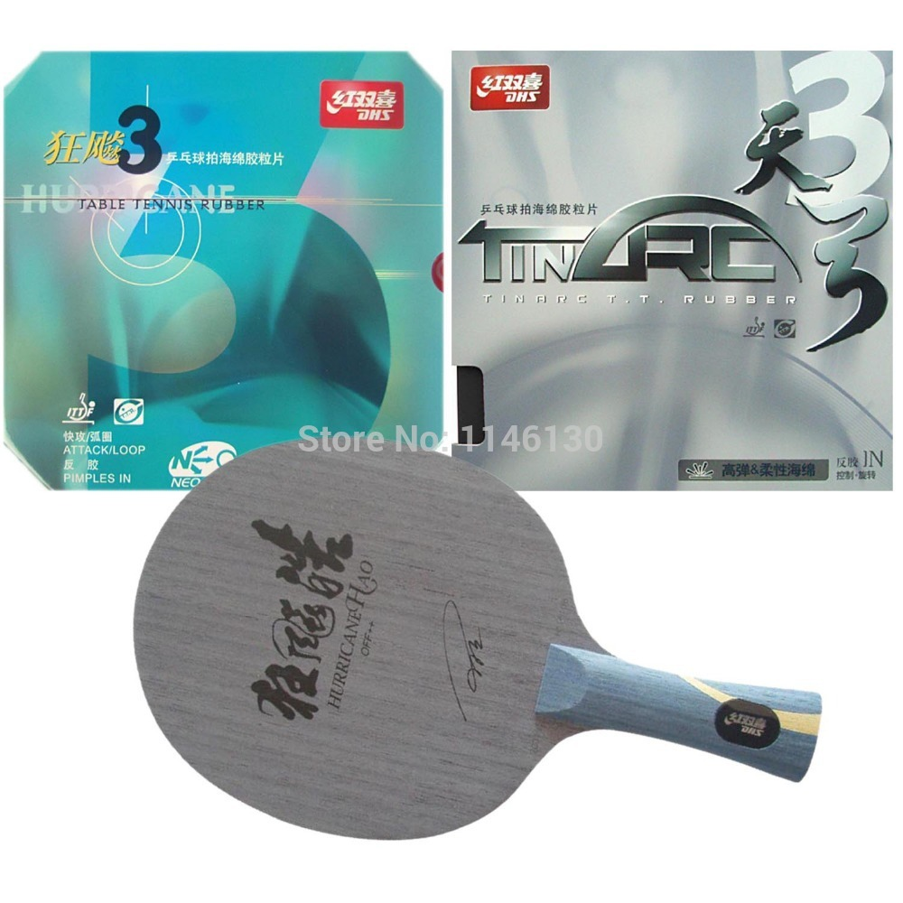 Pro Table Tennis PingPong Combo Racket Hurricane Hao and NEO Hurricane3 TinArc3 2015 The new listing Long Shakehand FL