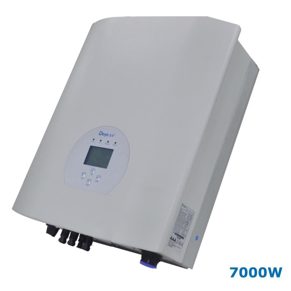 7000W String Solar Power on Grid Tie Inverter 3 Phase AC 380V/440V DC 200-900V PV Transformerless 7KW Wi-Fi 6000w 140v 800vdc three phase transformerless solar grid tie inverter with ce rohs approvals