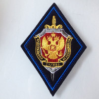 RU KGB Badge Army Applique Morale Badge Embroidery 3D Military Patches For Cloth