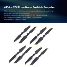 4 Pairs 8 Pairs 8743 Low Noise Propeller CW CCW Props Blade Spare Part for DJI Mavic 2 Drone Quadcopter Spare Parts Accessories 2 pairs set original cw ccw propeller set for xiaomi mi drone 4k version fpv drone rc quadcopter spare parts blades page 8 page 8 page 7 page 8