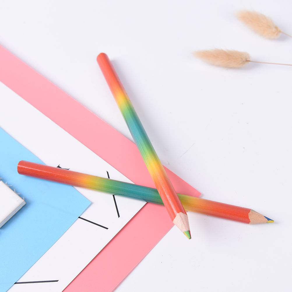 2pcs Lot Mixed Colors Iridescent Pencils Sets Children S Drawing Art Professionals Fixed Colored Small Fresh On Aliexpress Alibaba Group