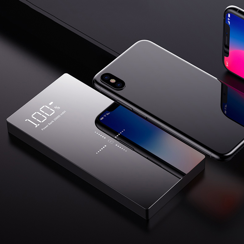 Qi Wireless Charger Power Bank 20000mAh Portable Charger Wireless Charging for iPhone X 8 Plus Samsung S9 S8 Xiaomi PowerbankQi Wireless Charger Power Bank 20000mAh Portable Charger Wireless Charging for iPhone X 8 Plus Samsung S9 S8 Xiaomi Powerbank