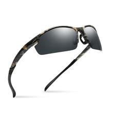 8ca4008747 2018 calidad superior gafas De Sol polarizadas hombres Camo Vintage Hombre  Polaroid gafas De Sol para