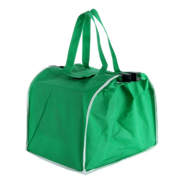 Eco Bag Handbag Folding Reusable Bags 2 Pcs Reusable Grocery Shopping Eco Bags Clip-To-Cart Grab Bag Portable Tool Set