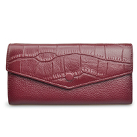High Quality Women Genuine Leather Purses Female Wallet Alligator Soft Long Hasp Wallets Luxury Style 2017
