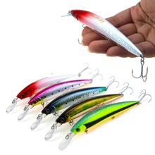 RUNATURE Flash Minnow Fishing Lure Bait Artificial Lure With 3 French VMC Hooks 110mm/37g Fishing Sinking Tackle Bait Hard Lures ilure osprey minnow fishing bait multi section slowly sinking lure with hooks