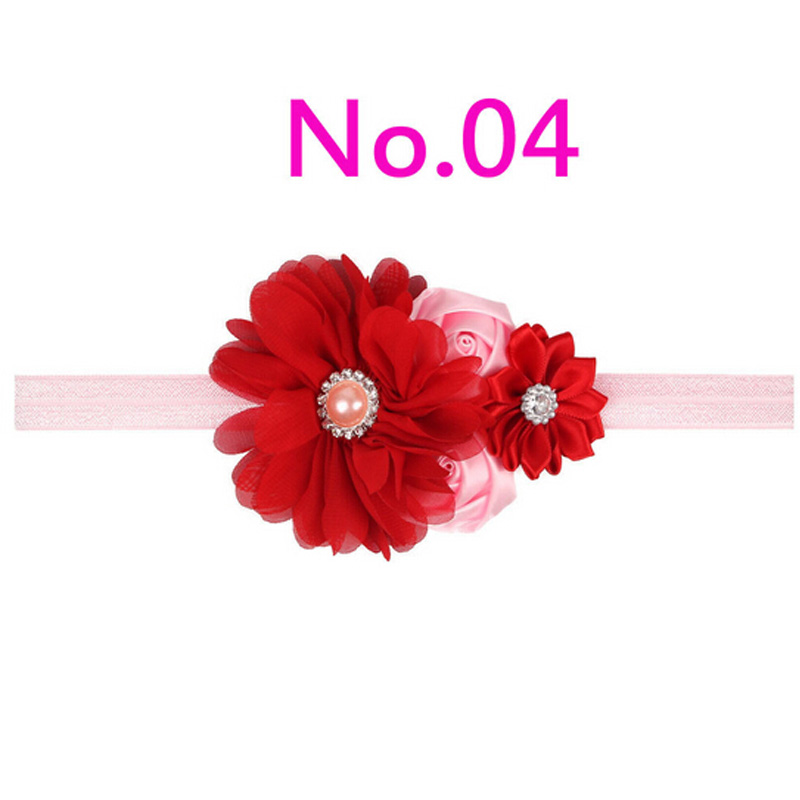 2017 Handwork Pearl 6 Styles Mix 4 Flower Flower Headband Wide - Киімге арналған аксессуарлар - фото 5