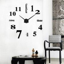 Акриловые современные горячие творческие s заводская цена! Современные DIY большие настенные часы 3D зеркальная поверхность наклейка домашний декор художественный дизайн#4M23